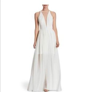 Dress the population Patricia illusion gown